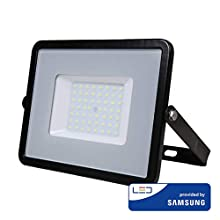 V-TAC VT-50 LED Flutlicht Samsung Chip, 4000K, 4000lm, IP65, 50 Watt, A+, Kunststoff, weiß, One Size