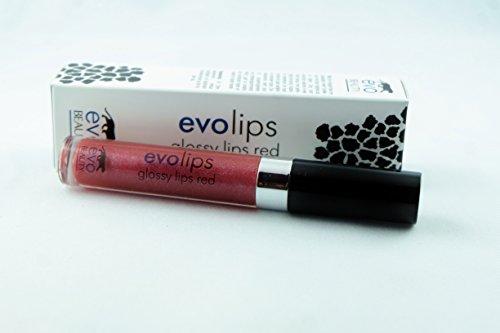 Red Glossy Lip Care (Evo Lips Glossy Lips - Red 5 ml)