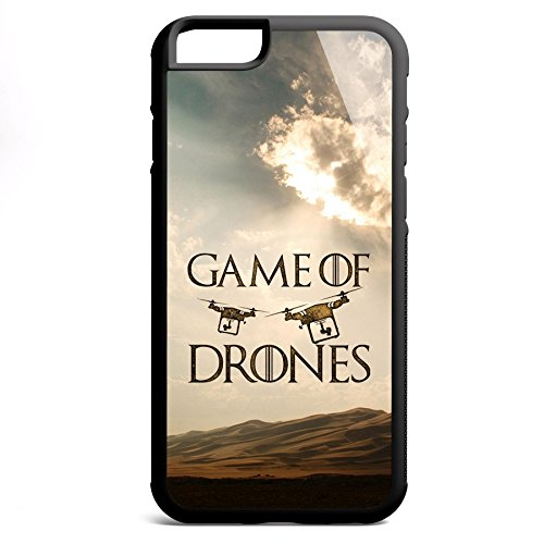 Smartcover Case Game of Drones z.B. für Iphone 5 / 5S, Iphone 6 / 6S, Samsung S6 und S6 EDGE mit griffigem Gummirand und coolem Print, Smartphone Hülle:Iphone 6 / 6S schwarz Iphone 6 / 6S schwarz