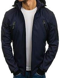 BOLF - Blouson - Veste à capuche – Softshell - Fermeture éclair - Homme dfbc8110e24
