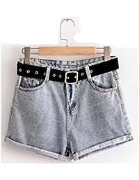 Oudan Pantaloncini da donna in Jeans vintage a vita alta