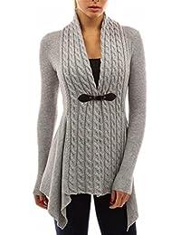 YOGLY Cardigan Chaqueta de Punto Mujer Chaqueta Twist de Cardigan de Punto  Outwear Casual 8f1061df4562