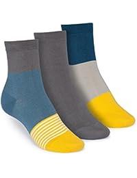 ThokkThokk 3er Pack Mid-Top Socken Triple Striped/Graphite/Triple GOTS Fairtrade