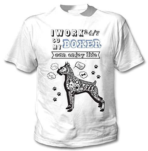 teesquare1st Men's Boxer Can Enjoy Life b White T-Shirt Size XLarge