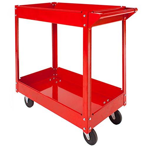 TecTake® 2 Etagen Werkstattwagen Werkzeugwagen Rollwagen Montagewagen Wagen Werkstatt