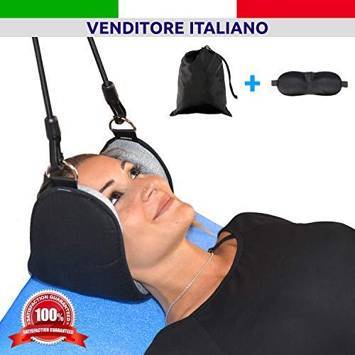 Amaca per collo neck hammock | rimedio dolore testa e collo - trazione cervicale portatile | cuscino massaggiatore sollievo e relax colonna vertebrale | correttore verticale rilassante stress less |
