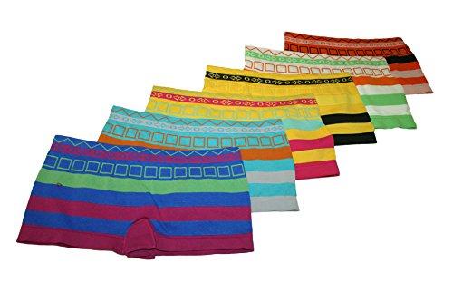 6er Pack Damen Boxershorts. Hot Pants Panty . Dessous Hipster Slips 2715 Größen S/M