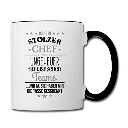 stolzer-chef-eines-fantastischen-teams-tasse-zweifarbig-von-spreadshirt-wei-schwarz