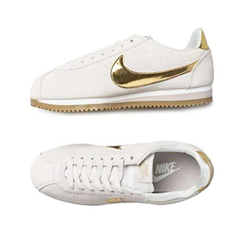 Nike Damen WMNS Classic Cortez Se Laufschuhe Mehrfarbig (Phantom/Metallic Gold/String 013) 38 EU