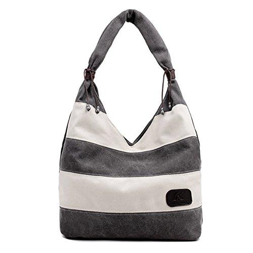Ladies singola borsa a tracolla,borsa di tela,borsetta-Blu grigio