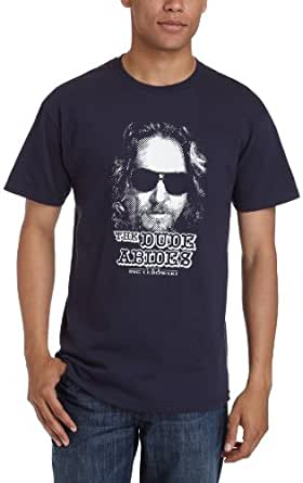 Old Glory Men's The Big Lebowski - The Dude Abides T-Shirt - Small Blue