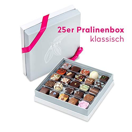 Pott au Chocolat Premium-Schokoladen Geschenk-Set (250g) - 25 edle Pralinen Sorten in einer Deluxe-Box - perfekt als Dessert, zu Kaffee, Wein, Whisky oder Craftbeer für Sie und Ihn zum Probieren (Schokolade Geschenk-set)