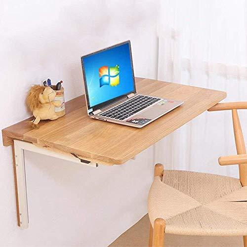 CWJ Haushalt Kleinen Tisch Weiße Eiche Wandklapp Schreibtisch Esszimmer Studie Einfache Kreative Bett Multifunktions Tisch,80 * 50 cm,Holzfarbe -