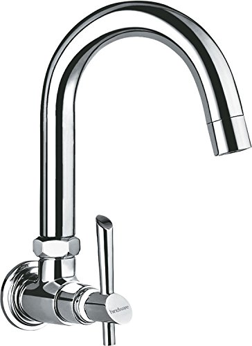 Hindware F110021CP Immacula Sink Tap With Swivel Spout Wall Mounted Model (Chrome)