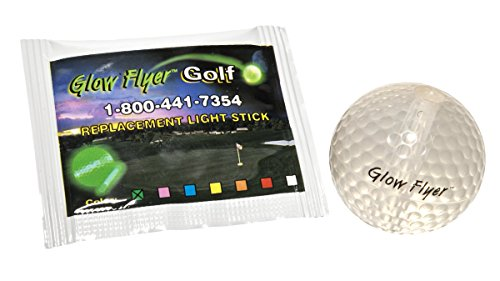 Windy City Novelties Glow in The Dark Golf Ball mit austauschbarem Glow Stick