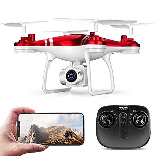 QYLT GPS FPV RC Drone, Videocamera Live Video 1080P HD, Quadcopter Telecamera WiFi Grandangolare Regolabile, Altitude Hold, Intelligent Battery Long Control Range