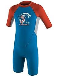 Oneill Wetsuits Niños Toddler Reactor Spring–Traje de neopreno, infantil, Toddler Reactor Spring, Brtblu/Coolgry/Neonred, 3 años