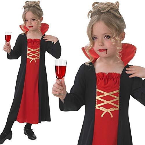 chen Kind Deluxe Gothic Vampiress Fancy Kleid Halloween Vampir Kostüm Premium UK Outfit (Mittel) ()