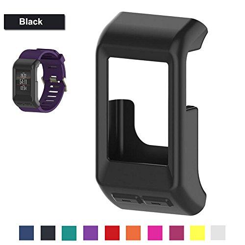 Bemodst® para Garmin vivoactive HR muñequera, Reemplazo de silicona protector de pantalla para reloj inteligente, color negro