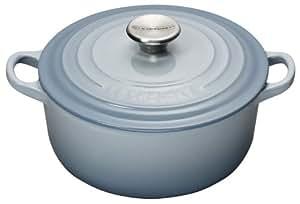 le creuset cocotte ronde en fonte bleu clair 20 cm amazon. Black Bedroom Furniture Sets. Home Design Ideas