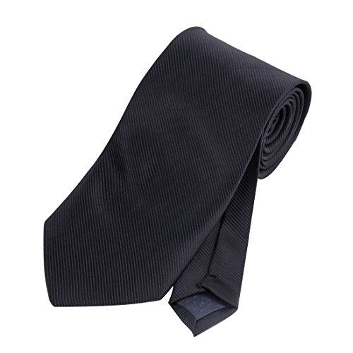 JINIU Mens Neckties Twill Solid Color 3.1