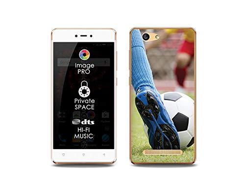etuo Handyhülle für Allview X3 Soul Lite - Hülle, Silikon, Gummi Schutzhülle Foto Case - Fußball