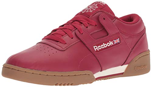 Reebok Men's Workout Clean Cross Trainer, Cranberry red/Chalk/g, 9.5 M US