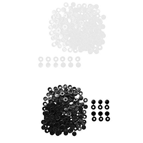 Sharplace Set De 200x Couvercle à Vis de Charnière En Polypropylène Capuchon Plis Snaps