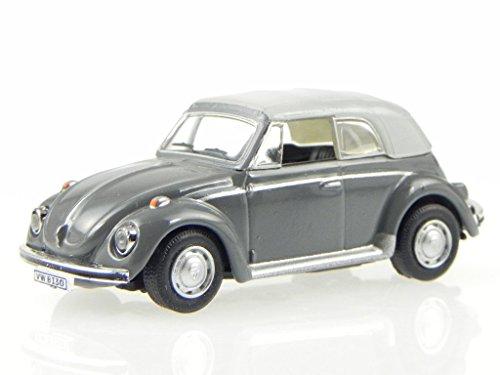 VW Käfer Beetle Cabrio Softtop graugrün Modellauto 021 Cararama 1:72 (Käfer 72 Vw)