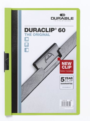 Durable 220905 Klemm-Mappe Duraclip Original 60, 25 Stück grün