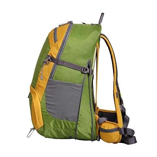 Outdoor-Wanderrucksack/Kann Sport Reisetasche verstaut erweitern/Bergsteigen Tasche-gelb 35L grün