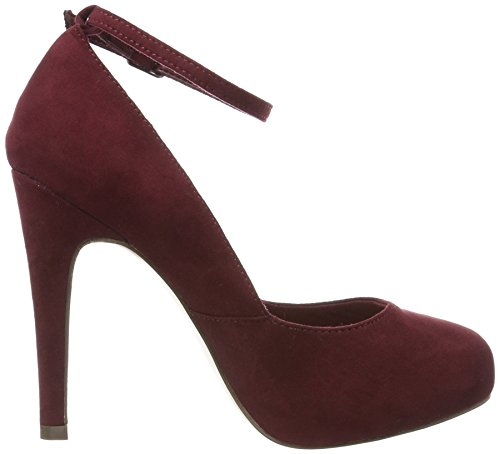 BIANCO - Ankle Strap Pump Son16, Scarpe col tacco Donna Rosso (Rot (Winered/40))