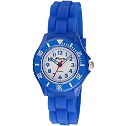 Ravel Children's Easy Read Quartz Watch with White Dial Analogue Display and Multicolour Silicone Strap R1802.16