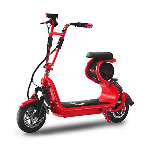Creing Adultos Scooters EléCtricos con Asiento MonopatíN EléCtrico Plegable Patinete EléCtrico PortáTil Ciclomotor Electrico E-Scooters Movilidad 30Km/h