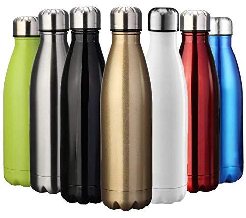 YiGaTech Vakuum-Isolierte Trinkflasche aus Hochwertigem Edelstahl- 350/500/750/1000 ml,Ideale Thermosflasche für Kinder, Kleinkinder, Schule, Kindergarten, Sport, Outdoor, Fahrrad, Fitness, Camping