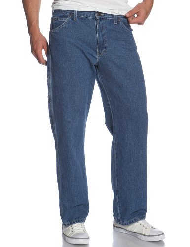 Denim Carpenter Jeans (Dickies - - DU310 Carpenter Jean, 32W x 32L, Stonewashed Indigo Blue)