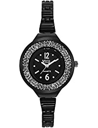 Youth Club New Black Moving Stones Watch For Women-CH-230BLKBLK