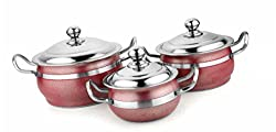 HANDI ANTIQUE Red COLOUR 3 pcs