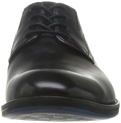 Clarks Herren Prangley Walk Derby Schwarz (Black Leather)