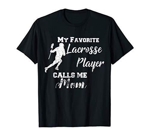 Frauen-Lacrosse Mom My Favorite Lacrosse-Spieler Lax Mom T-Shirt -