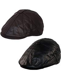8d69488a3649b Dazoriginal Newsboy Hats for Men Baker boy Leather Hat Panel Cap Irish Flat  Cap