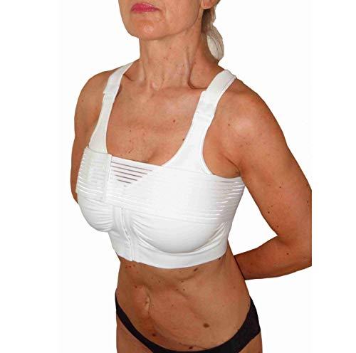 CzSalus KompressionsBH Brustvergrößerung, Nach chirurgischen eingriffen BH mit Brust Band (Weiß, S) (Bhs, Die Haken In Der Front)
