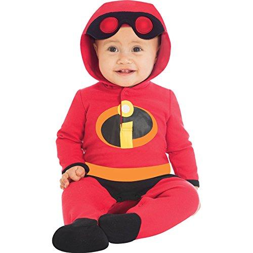 Unglaublichen Kostüm Baby - Die Unglaublichen Jersey-Strampelanzug Disney Superheld Kostüm Baby Jungen