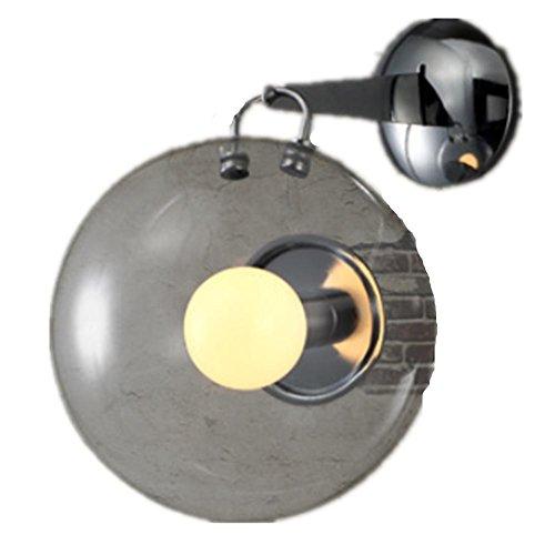 FWEFPulsante lampada moderna camera da letto semplice lampada da comodino caldo salotto creativo bolla di sapone del ristorante vetro appliques vetro per spazio 10-20 metri quadrati (25 * 30 * 38 cm)