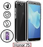 New&Teck® Coque Huawei Honor 7S - Protection intégrale Avant + arrière en Rigide, Housse Etui Tactile 360 degré - Antichoc, Transparent Honor 7S