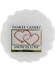 Yankee Candle 1249722E Bougie Tartelette en Cire L'Amour d'Hiver Blanc