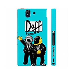Sony Xperia Z Daff Punk Blue designer mobile hard shell case by Enthopia