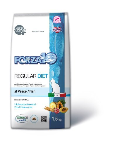 Croccantini monoproteici per gatto Forza 10 Regular Diet Pesce