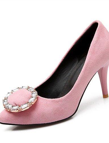 WSS 2016 Chaussures Femme-Mariage / Habillé / Décontracté / Soirée & Evénement-Noir / Rose / Violet / Rouge-Talon Aiguille-Talons-Talons-Laine pink-us9 / eu40 / uk7 / cn41