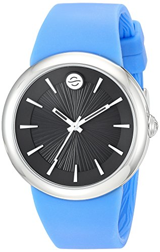 Philip Stein Unisex-Adult Analogue Japanese-Quartz Watch with Silicone Strap F36S-LCB-BL